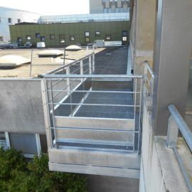 Passerelle Hôpital Yves Le Foll à Saint-Brieuc (22)