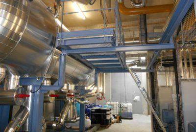 Passerelle salle des machines ammoniac à Yffiniac (22)