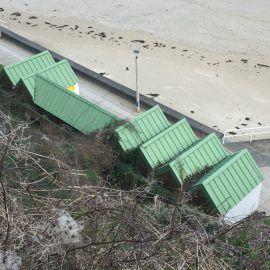 Cabines de plage de l'avant-port de Binic